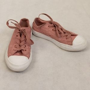 Converse All-Star Girls Pink Glitter Sneakers